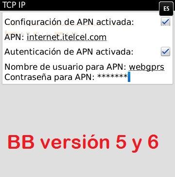 configurar internet apn claro nicaragua blackberry