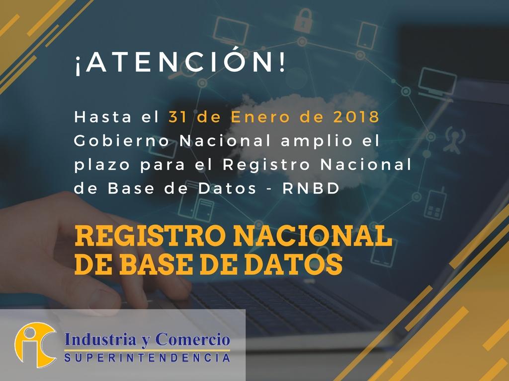 Registro Nacional Base de Datos