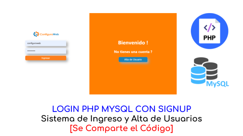 Login PHP MySQL con Signup
