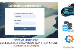 Sistema Hotelero Pensión Estudiantil Desarrollada en PHP con MySQL