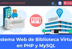 Sistema Web de Biblioteca Virtual en PHP y MySQL