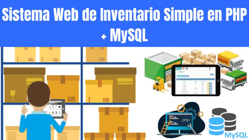 Sistema Web de Inventario Simple en PHP + MySQL
