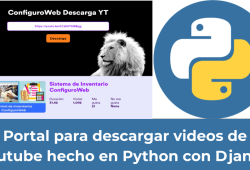 Portal para descargar videos de Youtube hecho en Python con Django.