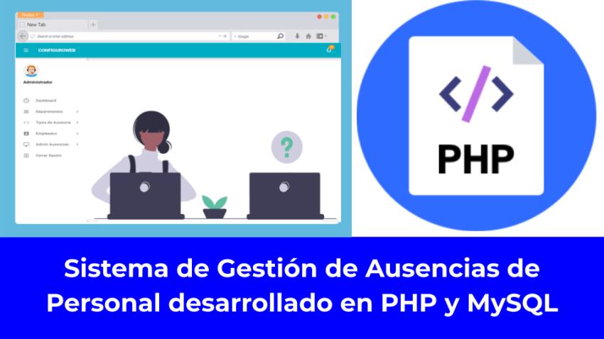 Sistema de Gestión de Ausencias de Personal desarrollado en PHP y MySQL