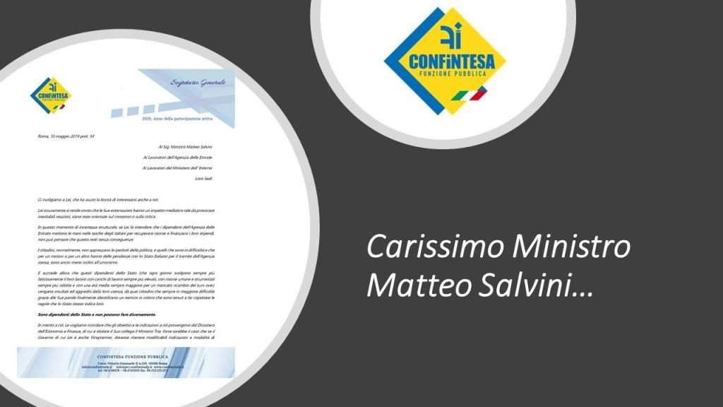 Carissimo Ministro Matteo Salvini…