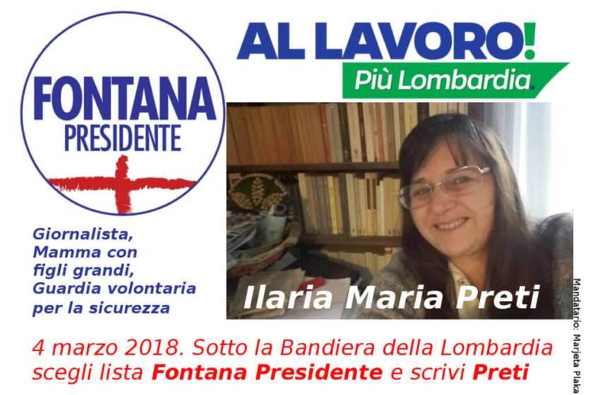 Ilaria maria Preti lista Fontana Presidente