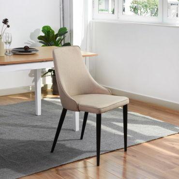 chaise de cuisine beige conforama