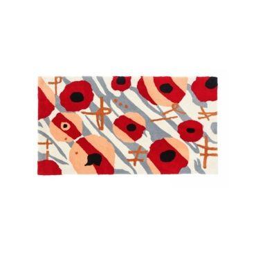 tapis enfant rouge conforama