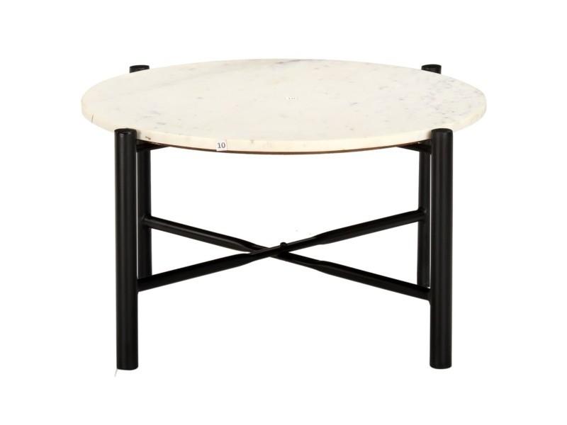 icaverne tables basses edition table basse blanc 60x60x35 cm pierre veritable texture marbre