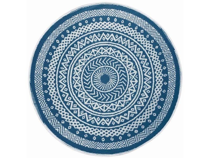 tapis rond exterieur 150 cm mandaly