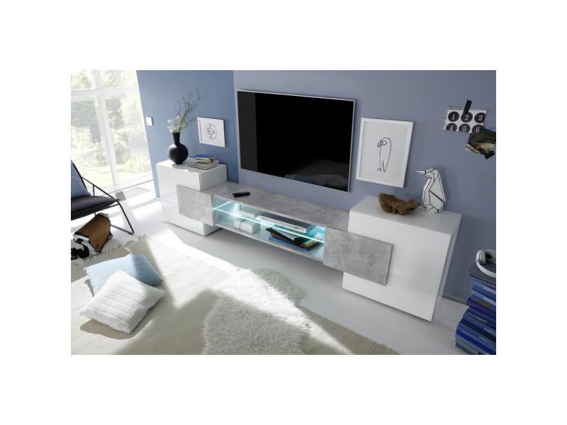 meuble tv moderne richie coloris gris