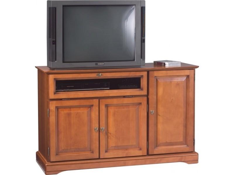 meuble tv 120 cm plaque merisier 3