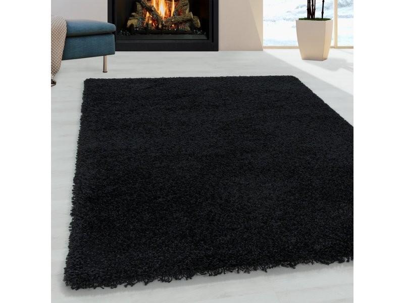 https www conforama fr decoration textile tapis tapis salon et chambre doux tapis a poils longs doux noir 120 x 170 cm sydney1201703000black p w41771087