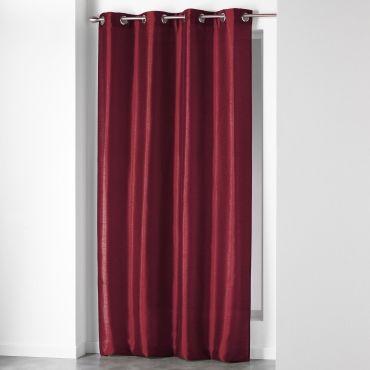 rideau fils 120 x 240 cm rouge