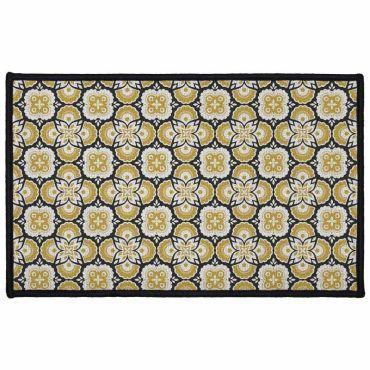 tapis cuisine jaune conforama