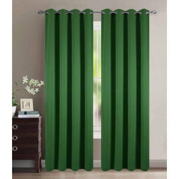 rideau velours 100 polyester vert