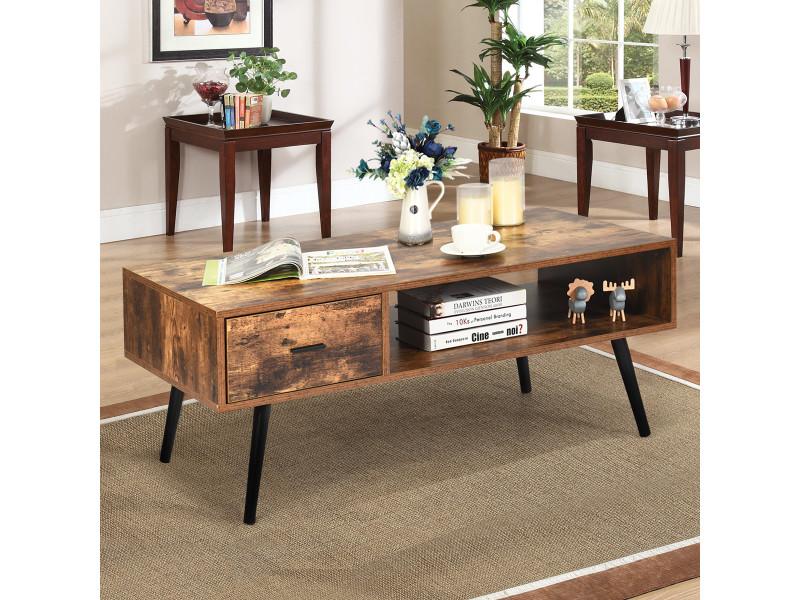 giantex table basse de style industriel