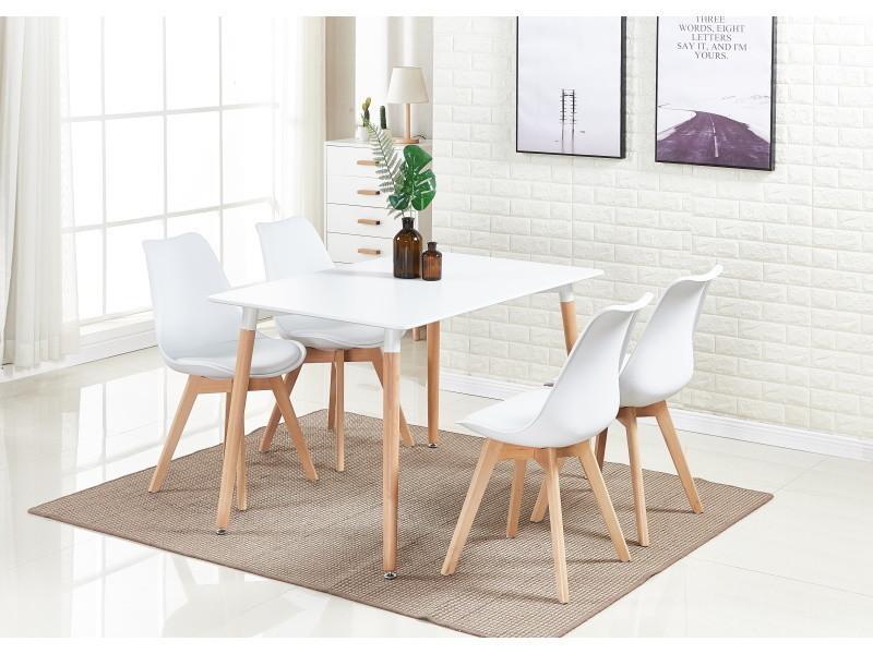 manger moderne lorenzo table blanche