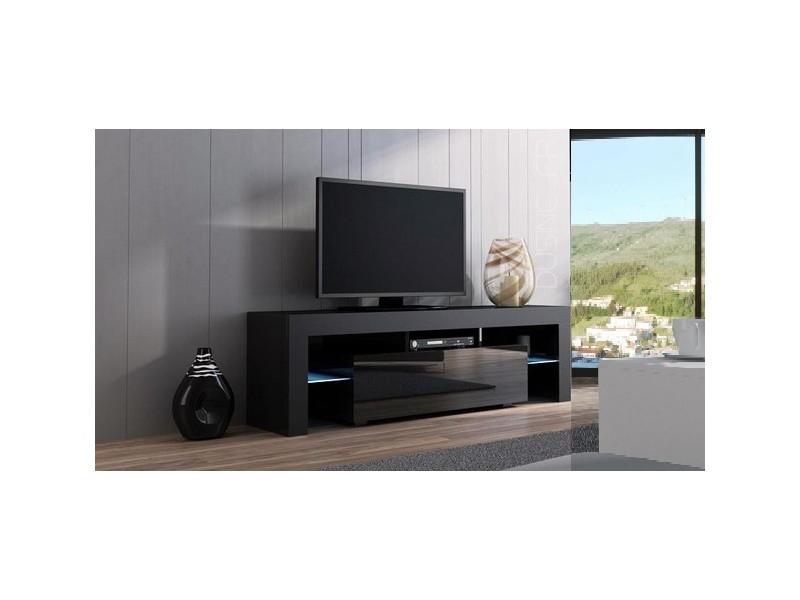 meuble tv spider a led en mat noir avec