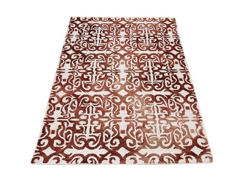 tapis de salon en laine a motifs caldo