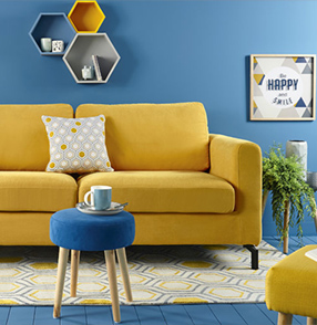 jaune et bleu