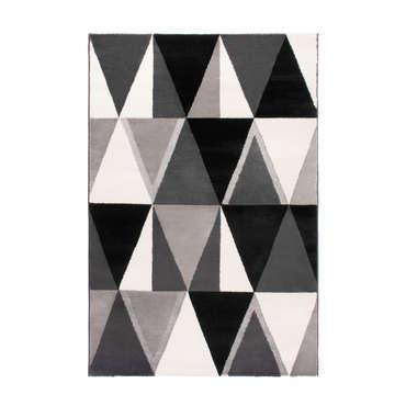 tapis 133x170 cm polo coloris gris
