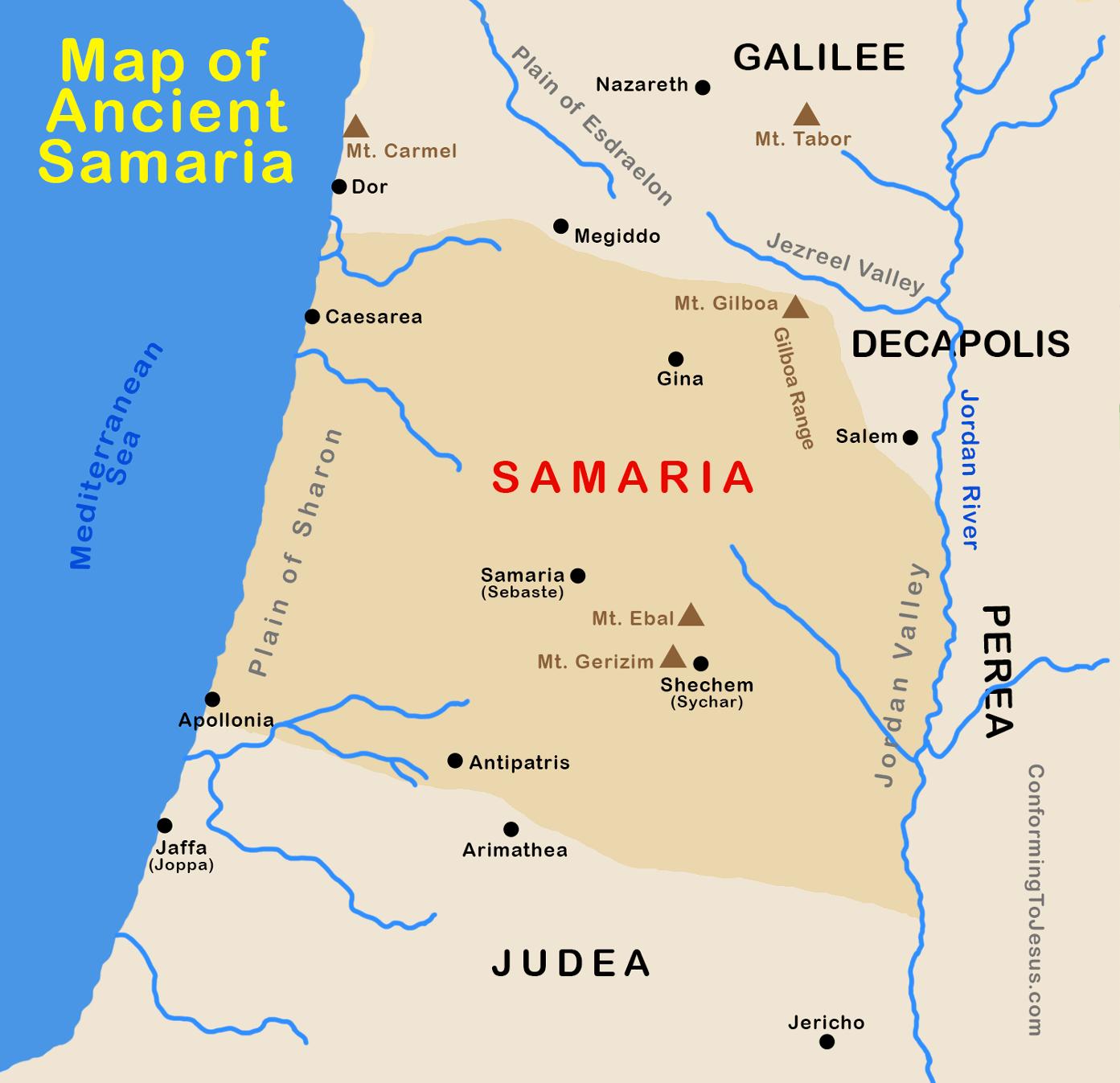 Map Of Ancient Roman Samaria
