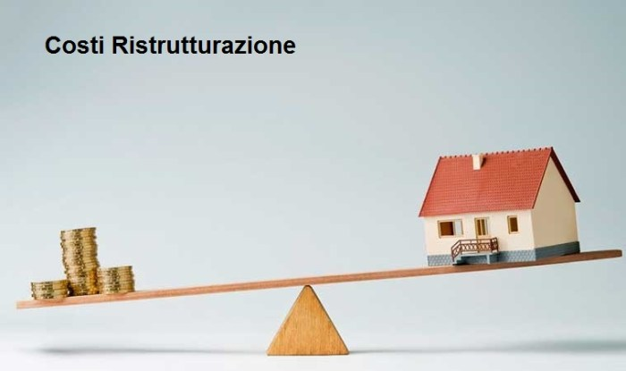 Costi di ristrutturazione
