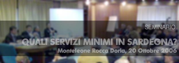 Seminario Quali servizi minimi in Sardegna
