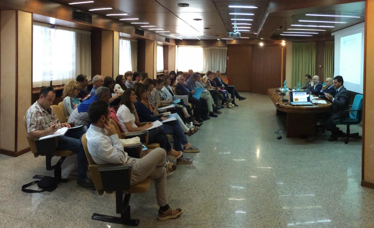 La sala del CTM durante la riunione delle commissioni