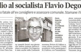 Scomparsa Flavio Degortes