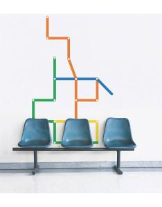 STM metro station wall decal