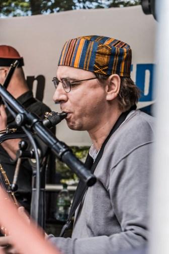 Die conFUSION Big Band auf dem Methfesselfest 2014. (Foto: Manfred Scharnberg)