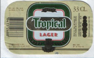 Tropical lager