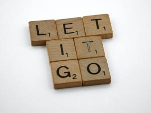 "Scrabble tiles say ""Let it Go"""