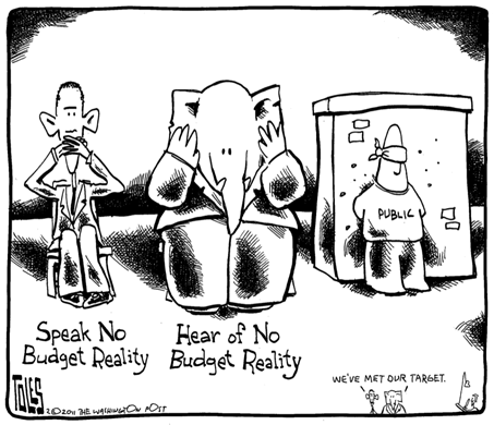 Tom Toles budget reality comic