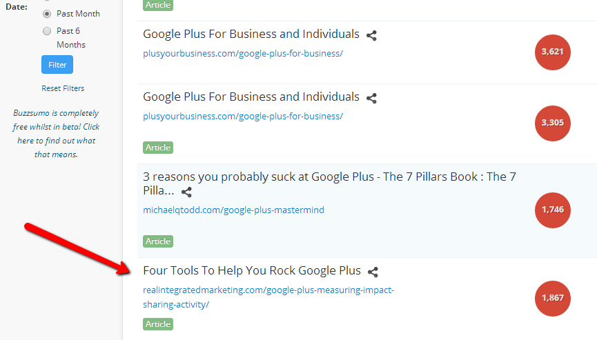 BuzzSummo Google Plus