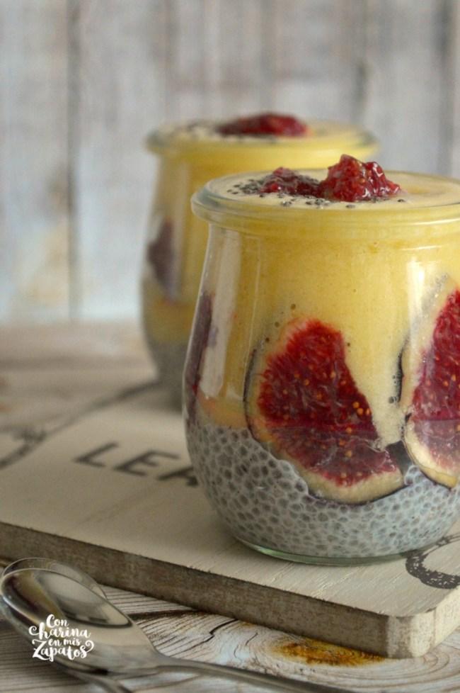 Pudding de Chía y Melocotón | CON HARINA EN MIS ZAPATOS