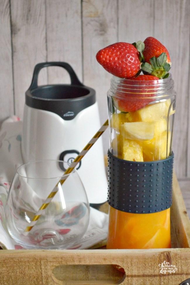 Smoothie de Naranja y Piña | CON HARINA EN MIS ZAPATOS