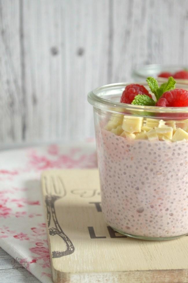 Pudding de Chía y Frambuesas | CON HARINA EN MIS ZAPATOS