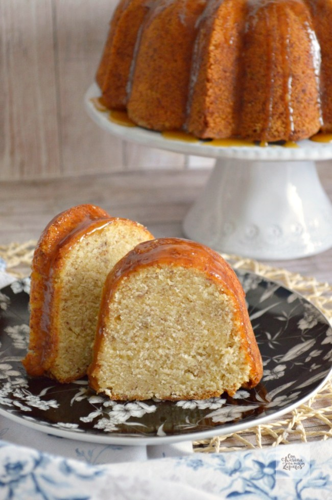 Bundt Cake de Plátano y Ron | CON HARINA EN MIS ZAPATOS
