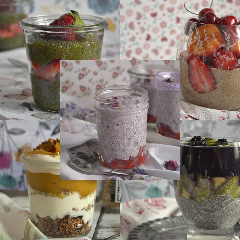 Cinco Desayunos en Vaso
