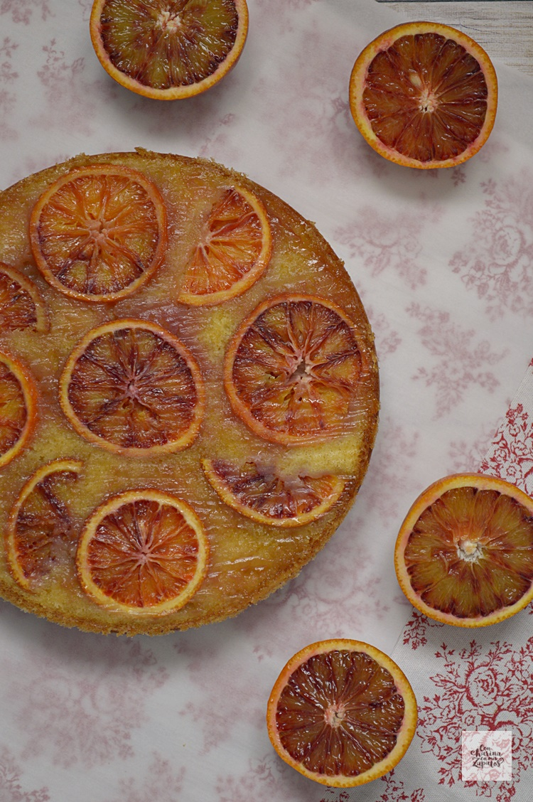Bizcocho Invertido de Naranja Sanguina