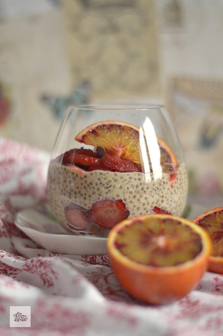 Pudding de Avena, Chía y Naranja Sanguina