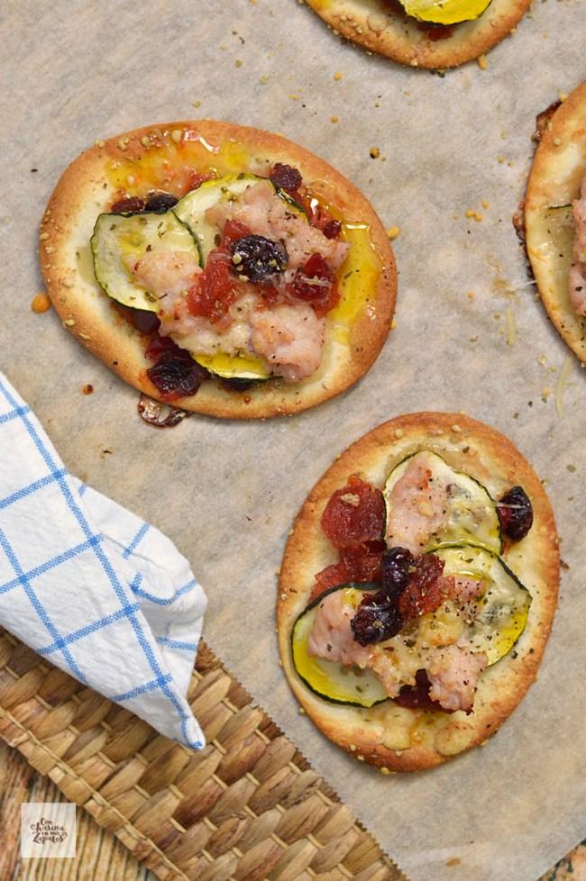 Mini Pizzas de Pavo | CON HARINA EN MIS ZAPATOS