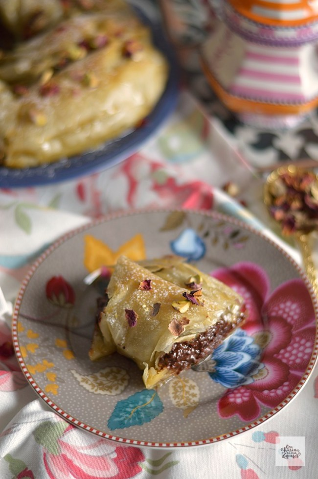 Pastel Árabe de Chocolate y Almendra | CON HARINA EN MIS ZAPATOS