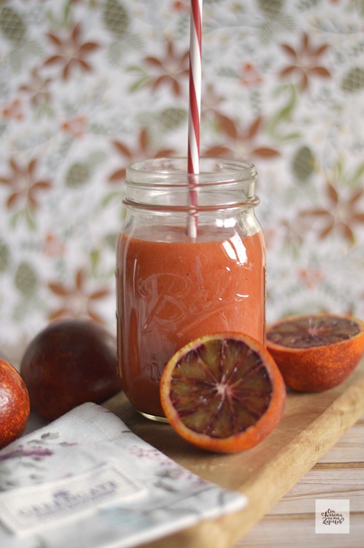 Smoothie de Naranja Sanguina y Mango