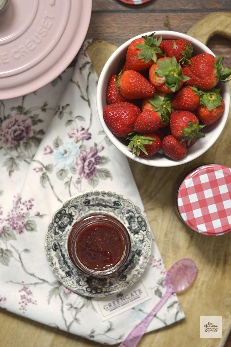 Mermelada de Fresa y Menta | CON HARINA EN MIS ZAPATOS