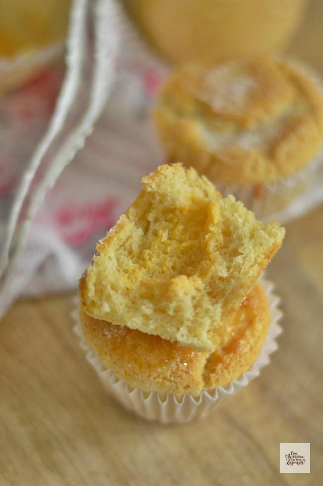 Muffins con Crema de Naranja | CON HARINA EN MIS ZAPATOS
