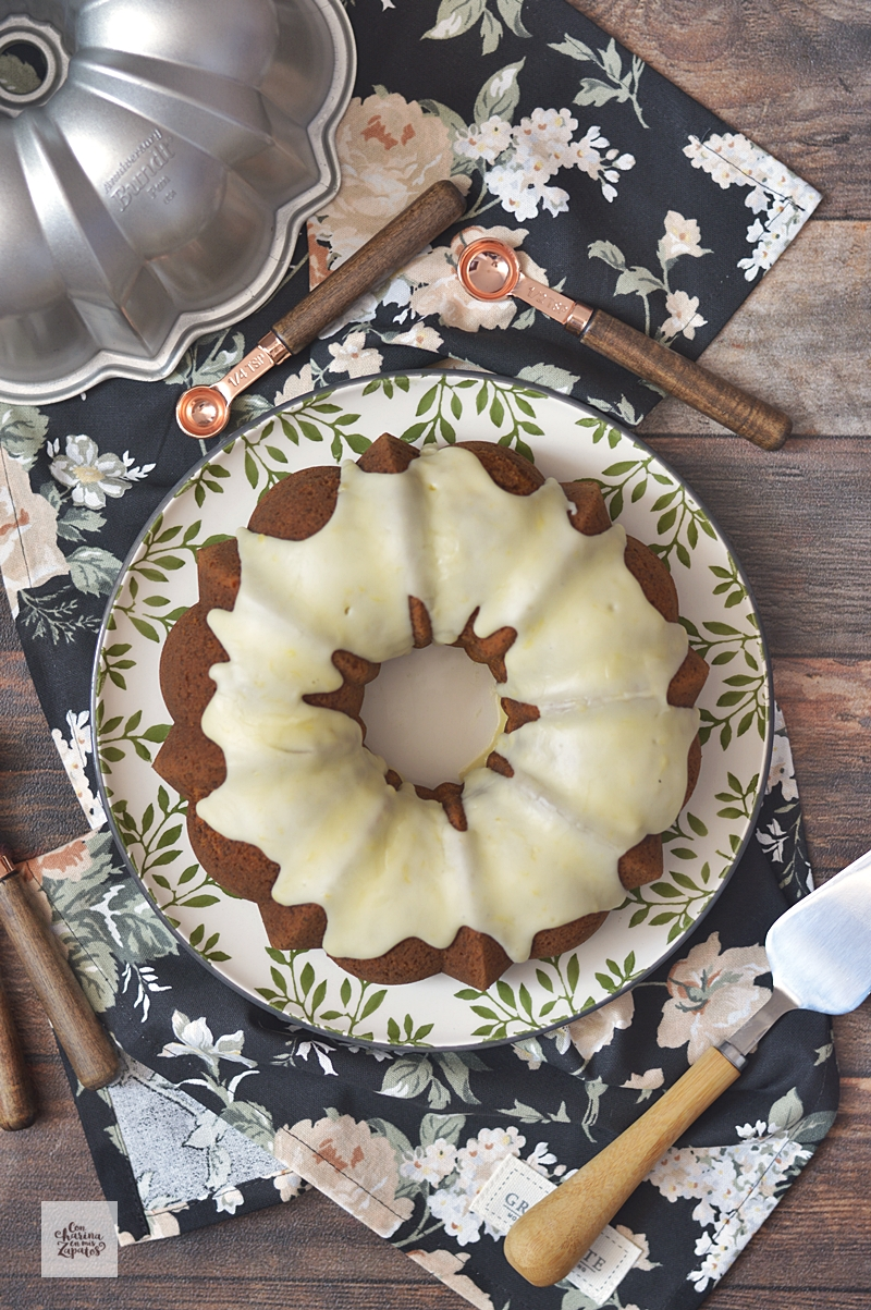 Bundt Cake de Zanahoria Sin Gluten